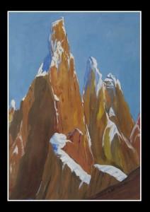 Cerro Torre 2008, tempera su cartoncino, 24x34 cm, Luca Bridda