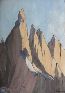 Cerro Torre 2013, tempera su carta, 35x50 cm, Luca Bridda