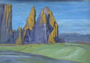 Punta Santner 2013, tempera su carta, 35x50 cm, Luca Bridda