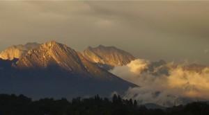 Col Nudo, Dolada e Teverone al tramonto (foto Primo Bridda, 2005)