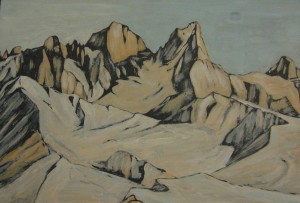 Pale di San Martino 2013, tempera su cartone, Luca Bridda
