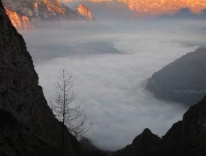 Inversione termica nella valle del Mis (abcdolomiti.com ©)