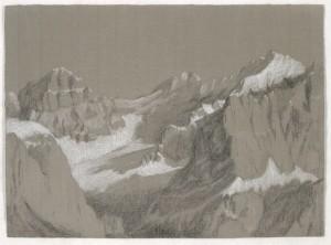 Conturines, Riccarda de Eccher (pastello su carta Fabriano, cm 66 x 48,2)