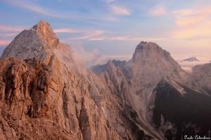 Cima dei Preti e Duranno dopo il tramonto (ph. Paolo Colombera ©)
