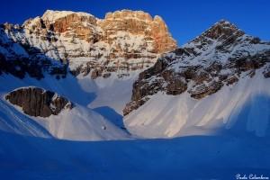 Tramonto sulla Croda Rossa d'Ampezzo dalla Pala dell'Asco (foto P. Colombera ©)