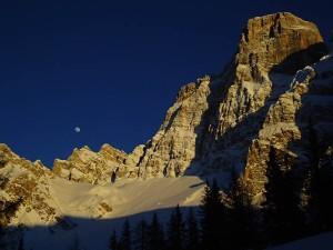 La Luna ed il Pelmo (foto Lorenzo del Terra ©)