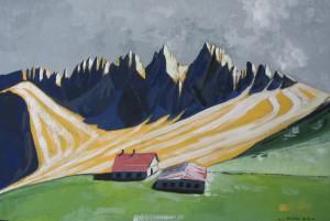 Spalti di Toro 2012, tempera su carta telata, 24x36 cm, Luca Bridda
