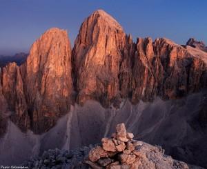 Cima Immik e Pala di San Martino dalla cima del Lago prima dell'alba (Paolo Colombera ©)