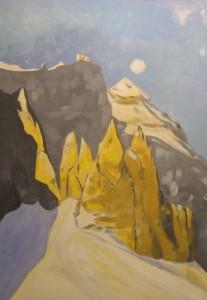 Piccole Dolomiti 2012, tempera su carta telata, 24x36 cm, Luca Bridda