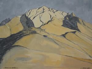 Omaggio al Dolada 2013, tempera su cartone, 35x47 cm, Luca Bridda