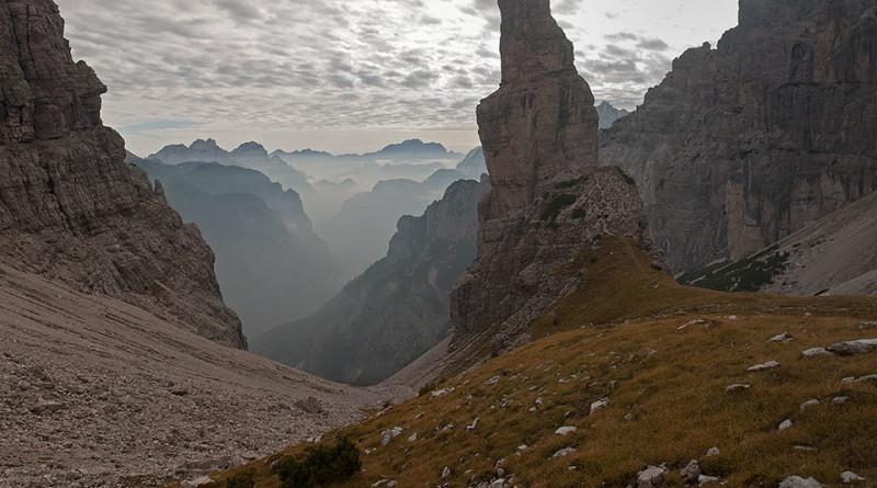 Il Campanile di Val Montanaia da nord