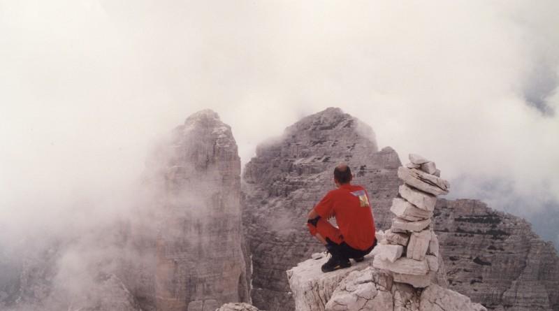 In cima al Sasso di Bosconero, dopo la salita lungo la via normale