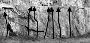 Zona boulder della Parete dei Falchi - schizzo parte destra