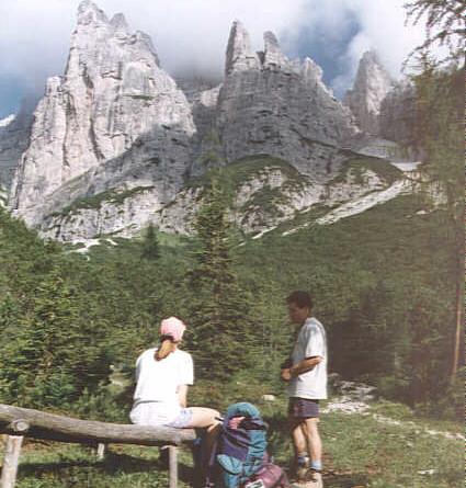 Due giorni nel Gruppo del Cridola. Escursioni nelle Dolomiti.