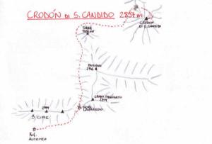 Crodon di San Candido (2891 m) - via normale alla cima