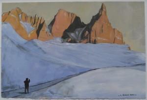 Pale di San Martino 2013, tempera su carta telata, 24x36 cm, Luca Bridda