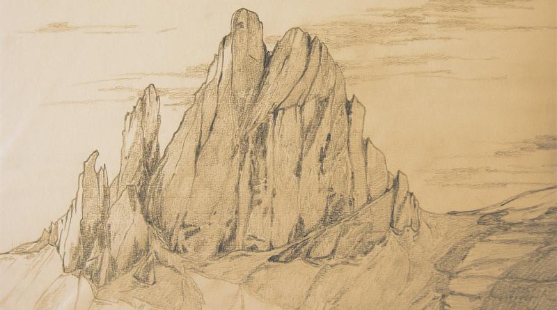 Disegno della Croda dei Toni, di Luca Bridda