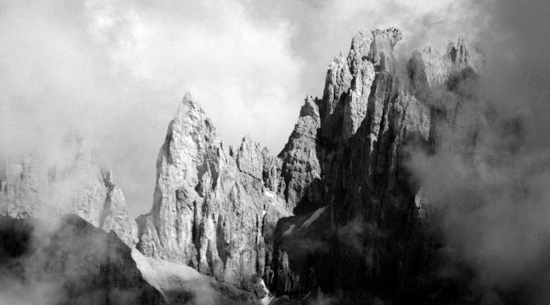 Campanile del Focobon dall'Altopiano delle Pale di San Martino.