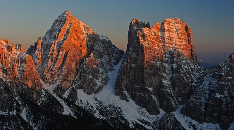 Il Gruppo del Bosconero (Sasso di Bosconero, Sasso di Toanella e Rocchetta Alta di Bosconero)