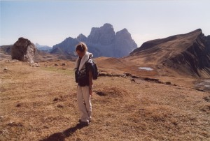 Il Pelmo dal Mondeval. Escursioni nelle Dolomiti.