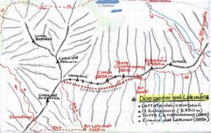 Trekking nel gruppo del Latemar: mappa
