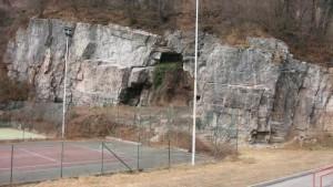 Falesia di Longarone - Retro del Palazzetto dello Sport