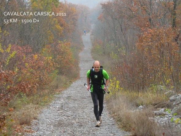 Durante la Cavalcata Carsica, gara non gara di trail running sul Carso di 53 km