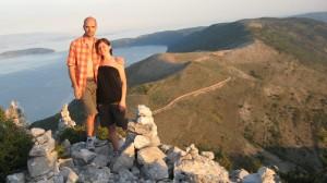 Sulla cima del Monte Sis, isola di Cherso
