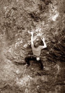 Enrico Cassol in arrampicata al Mas