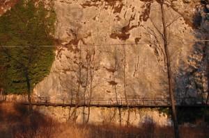 Palestra di roccia della passerella, falesia.