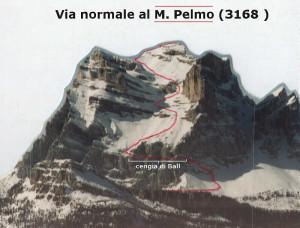 Il Monte Pelmo (3168 m): via normale, il tracciato