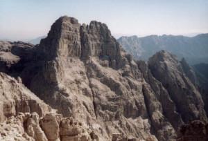 Il Sass de Mura dalla cima del Piz