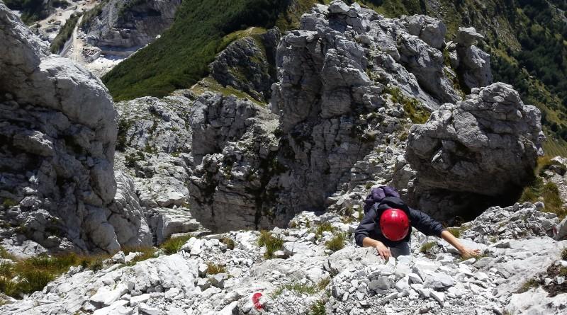 Pizzo d'Uccello, via normale, Alpi Apuane