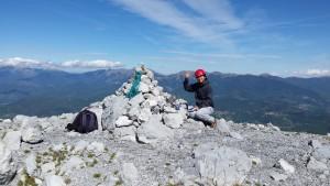 Cima del Pizzo d'Uccello, nelle Alpi Apuane
