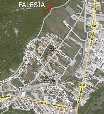 Falesia Polpet Bassa, mappa