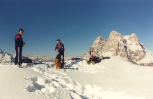 Monte Punta (1952 m) - in cima. Escursioni nelle Dolomiti.