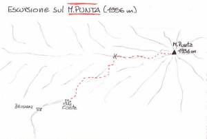 Monte Punta (1952 m) - itinerario escursione