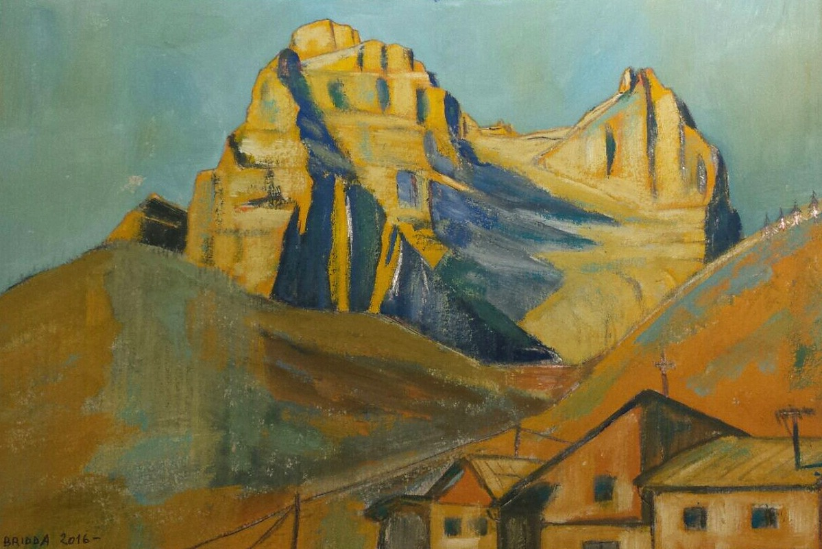 Paesaggi Montani Di Luca Bridda Disegni E Dipinti Abcdolomiticom