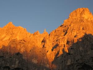 La Gusela del Vescovà dal rifugio Settimo Alpin