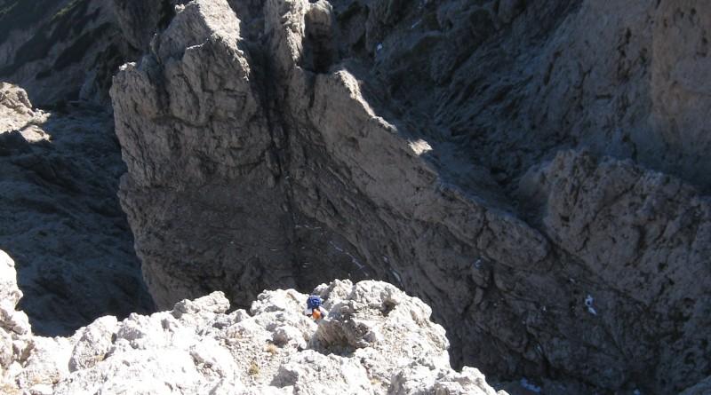 Seconda Pala del Balcòn (2371 m) - Via Cusinato-Rossi, prossimi alla cima