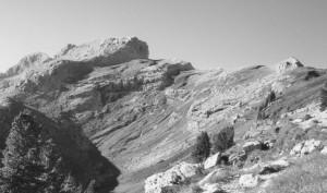 Settsass, versante della via normale alla cima