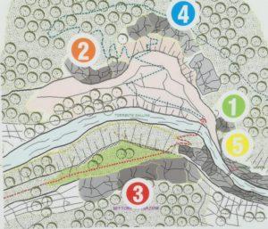 palestra di roccia della Val Gallina mappa