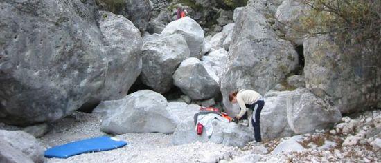 Zona Boulder della Val Scura (foto Cattarossi)