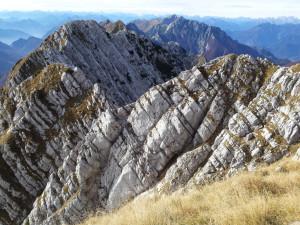 Il Monte Musi Cima Ovest dalla Cima Est.