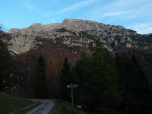 Il Monte Chiavals dalla Val Alba