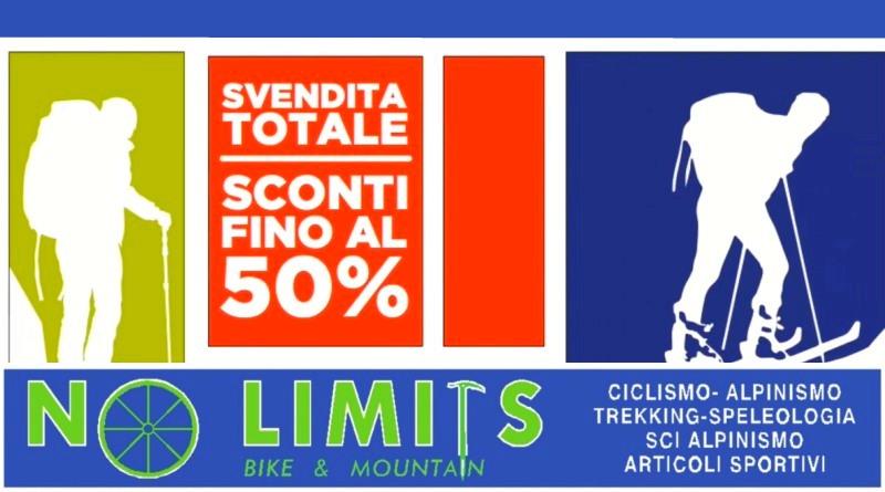No Limits di Tolmezzo: sconti reali del 50%