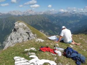 In cima al Monte Alto d'Auta
