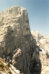 La parete est del Pizzocco