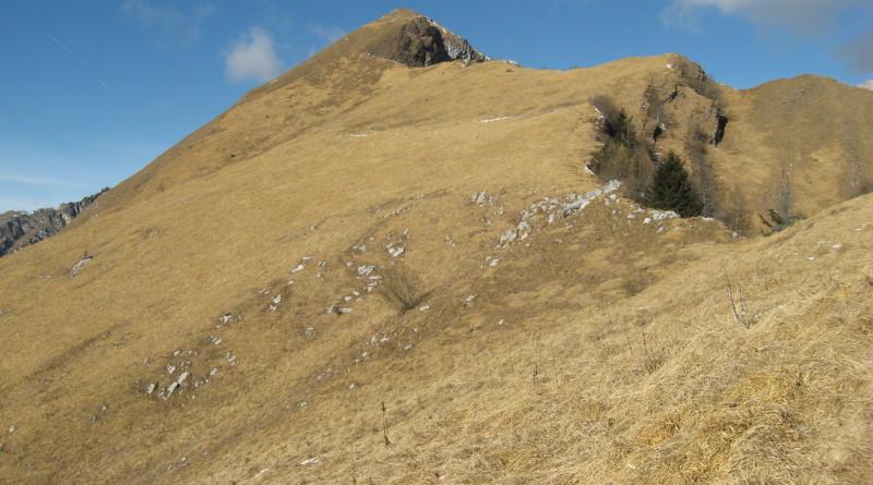 La parte finale della salita al Monte Terne