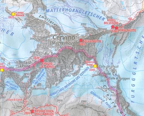 mappa/castina del Cervino (fonte Rete)